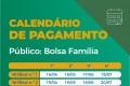 Calendário de pagamento das parcelas do auxílio emergencial para beneficiários do Bolsa Família - Arte/Agência Brasil