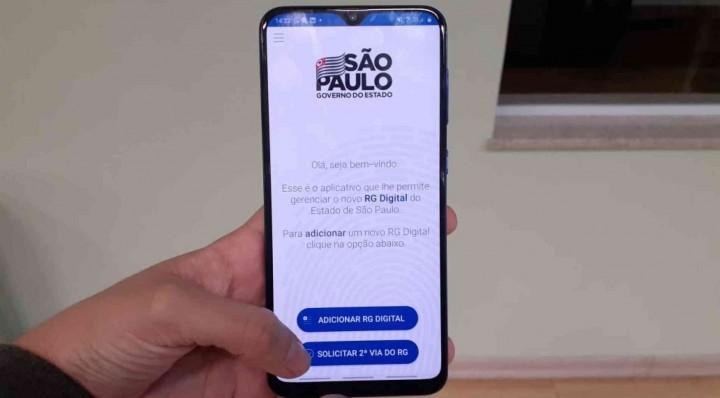 Aplicativo RG Digital SP, da Polícia Civil de São Paulo, permite que o usuário solicite a segunda via do documento