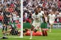 Sterling marcou três dos quatro gols ingleses no torneio. - ANDY RAIN / AFP
