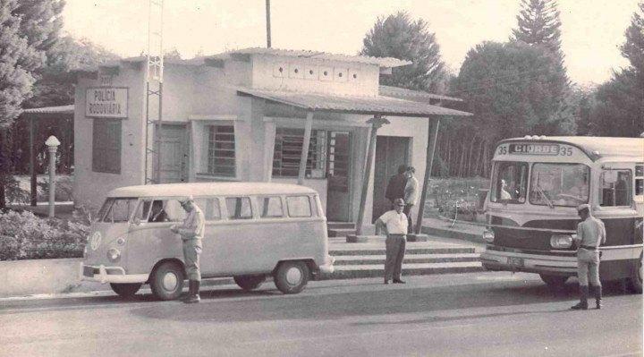 Base rodoviária no ano de 1970.