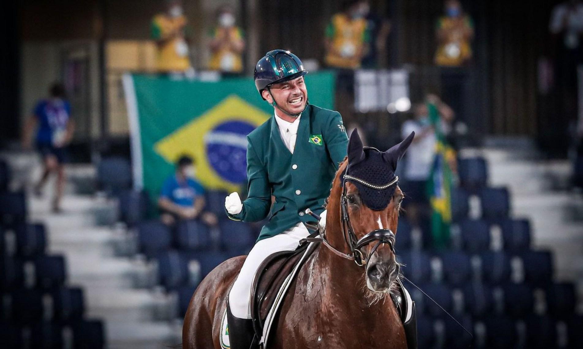 Rodolpho faturou a medalha de prata no hipismo na Paralimpíada de Tóquio